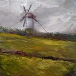 skerries windmill oil painting