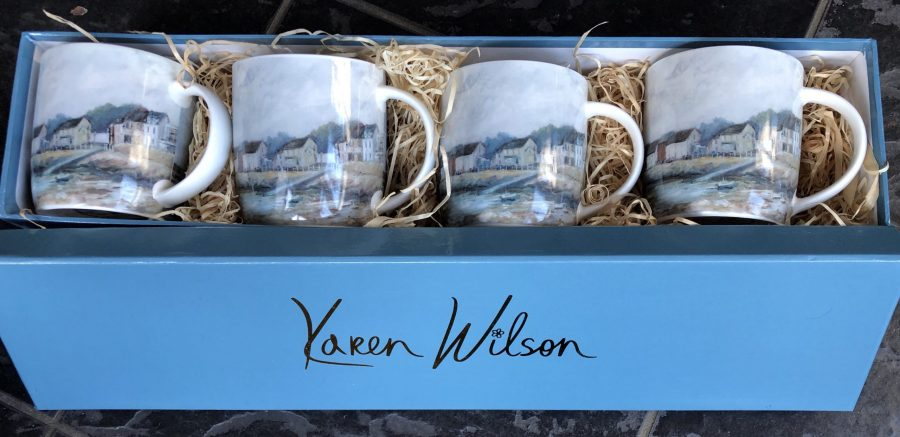 skerries mugs x 4