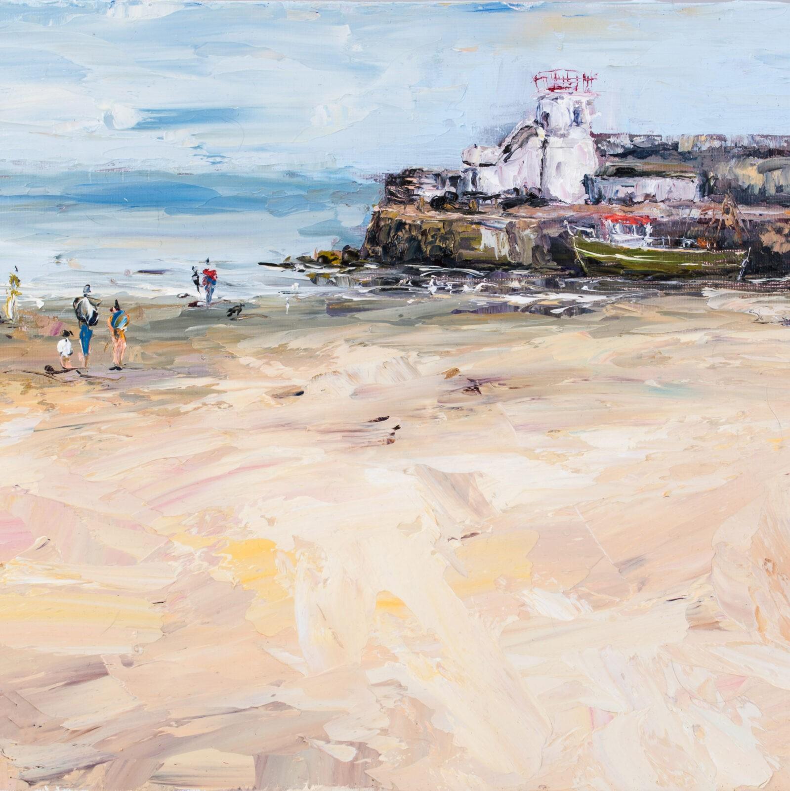 Balbriggan beach and harbour print