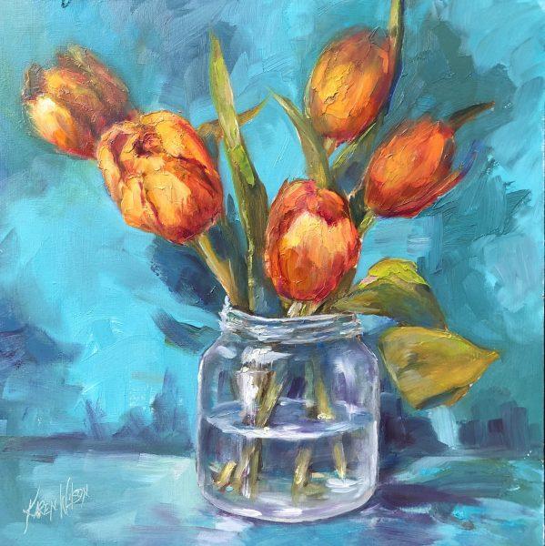 tulips by Karen Wilson