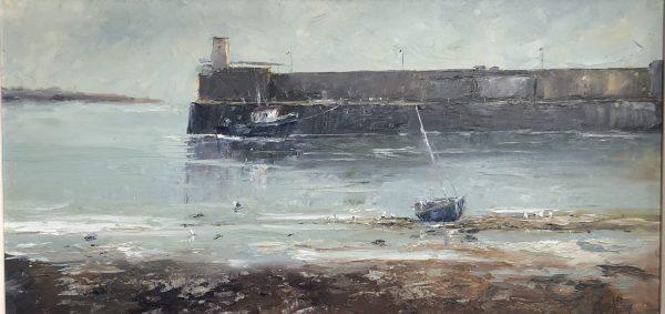low tide, skerries harbour