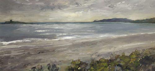 Skerries South Beach painting by Karen Wilson