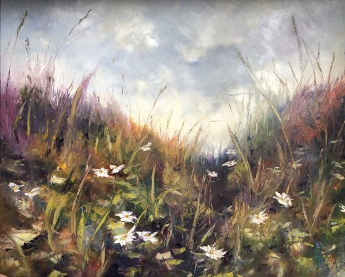 wild meadow original oil painting