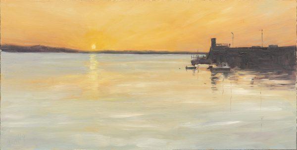 evening reflections, skerries