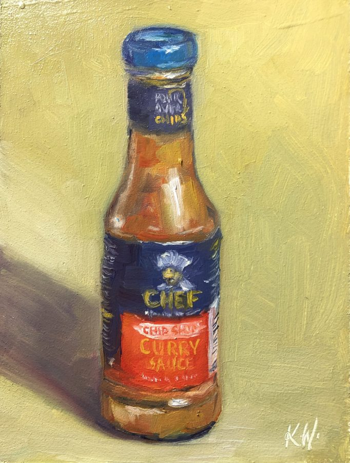 curry sauce bottle