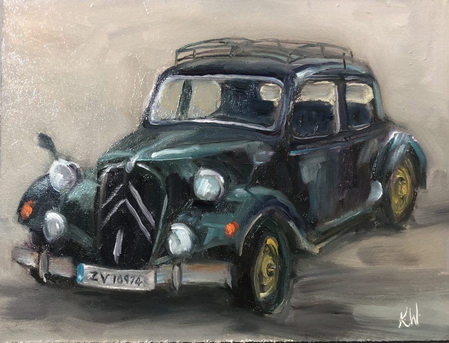 vintage car painting