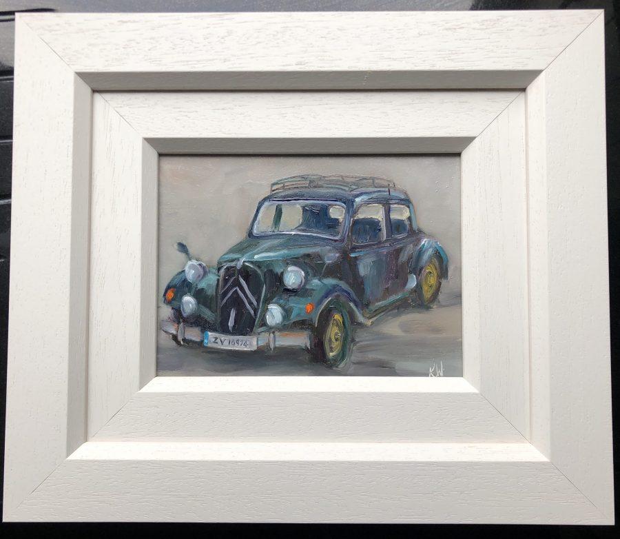 Vintage car framed