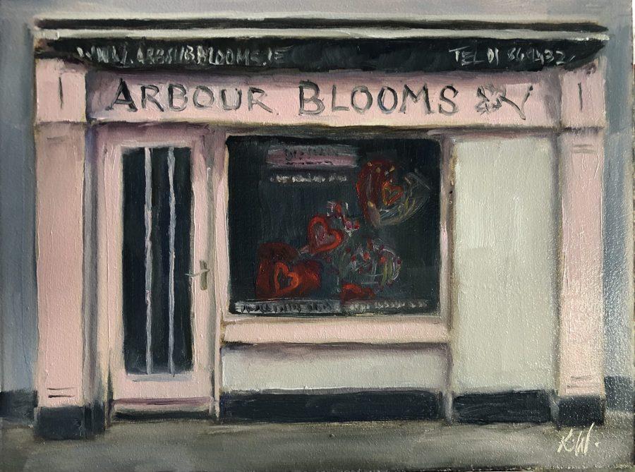 Arbour Blooms shopfront painting