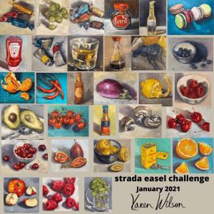 strada easel challenge collage