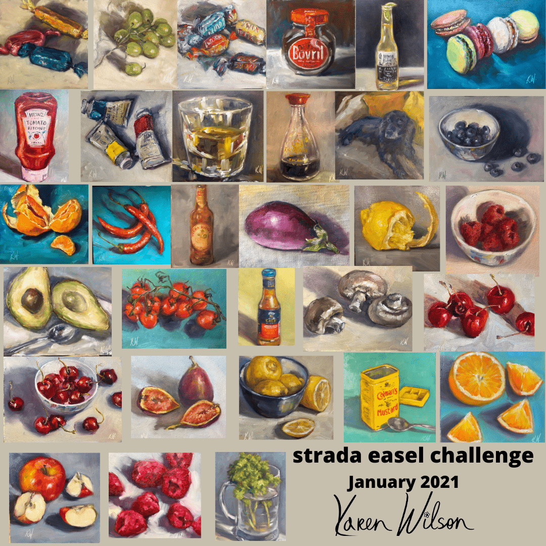 strada easel challenge collage